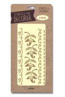 stencil flores y cenefas silu 1028