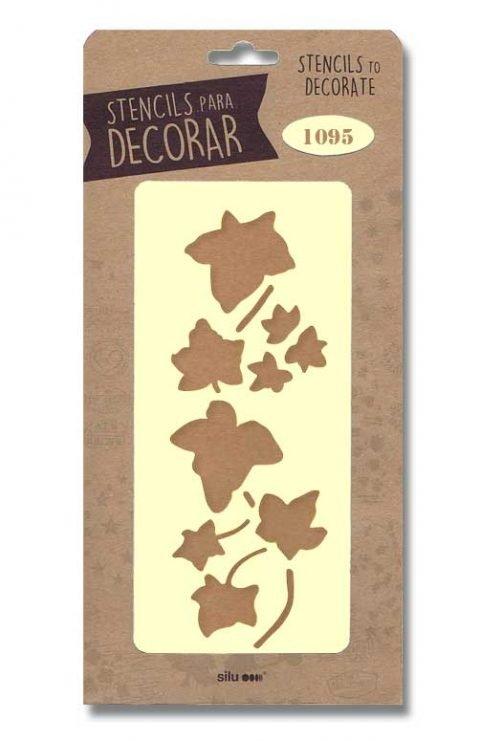 stencil hojas silu 1095