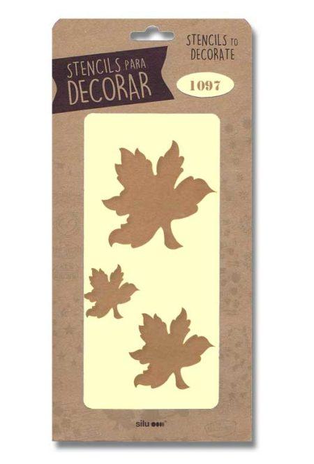 Stencil hojas 1097