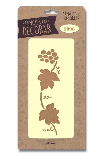 Stencil hojas uvas 1096
