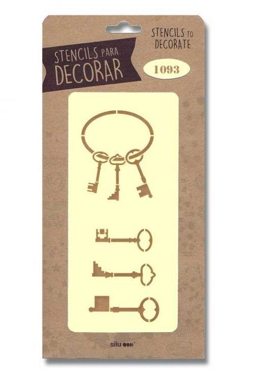 stencil llaves silu 1093