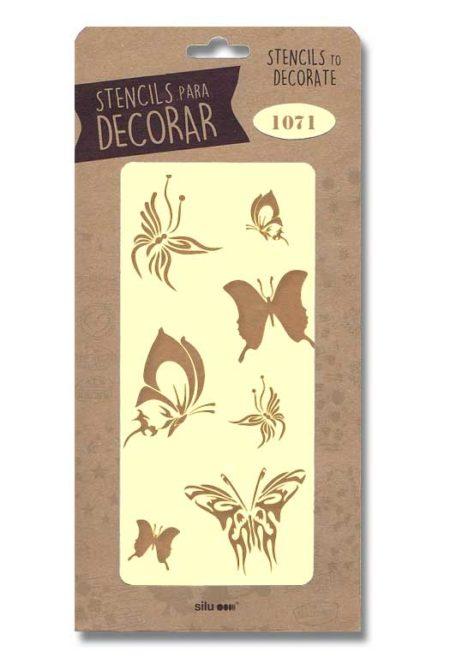 Stencil mariposas 1071