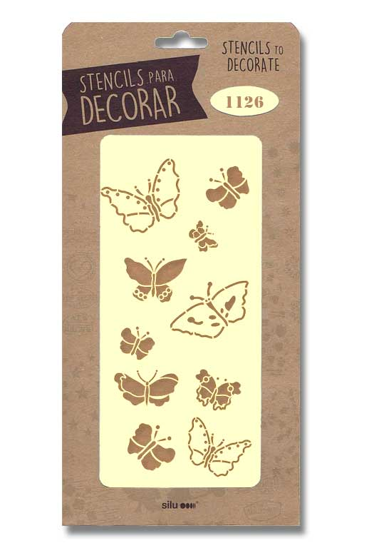 stencil mariposas silu 1126