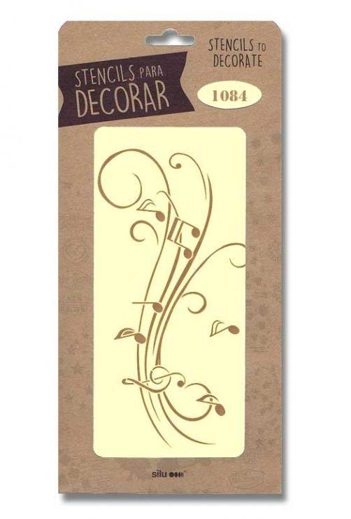 stencil notas musicales silu 1084
