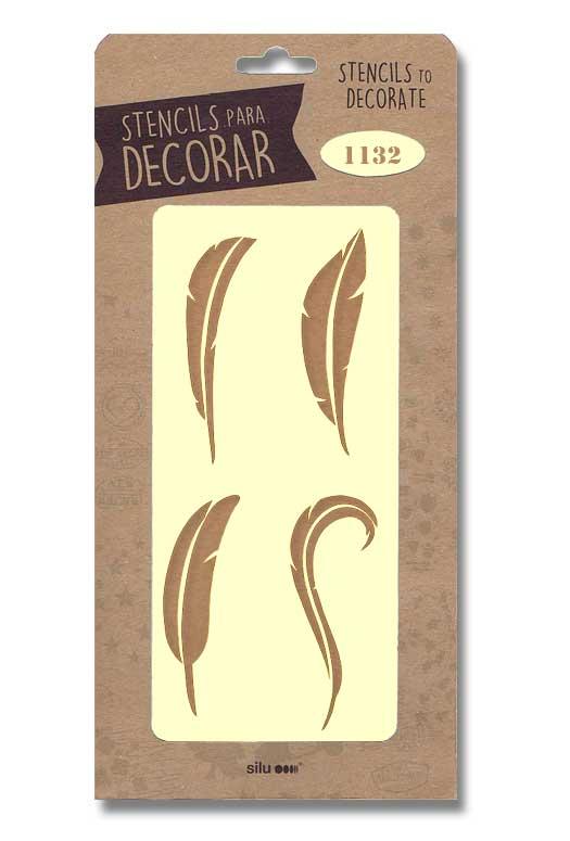stencil plumas silu 1132