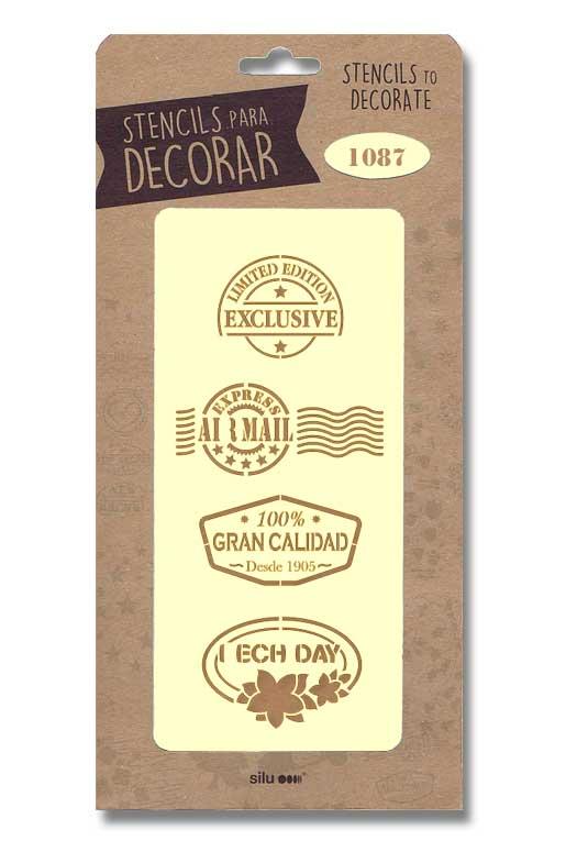 stencil sellos silu 1087