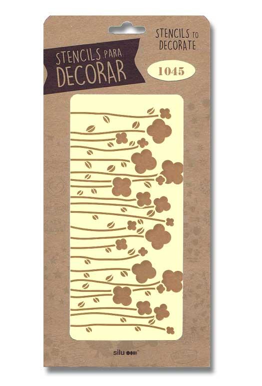 stencil treboles 4 hojas silu 1045