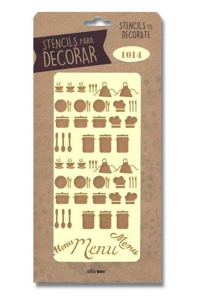 Stencil tiles cocina 1129 silu for Lista de utiles de cocina