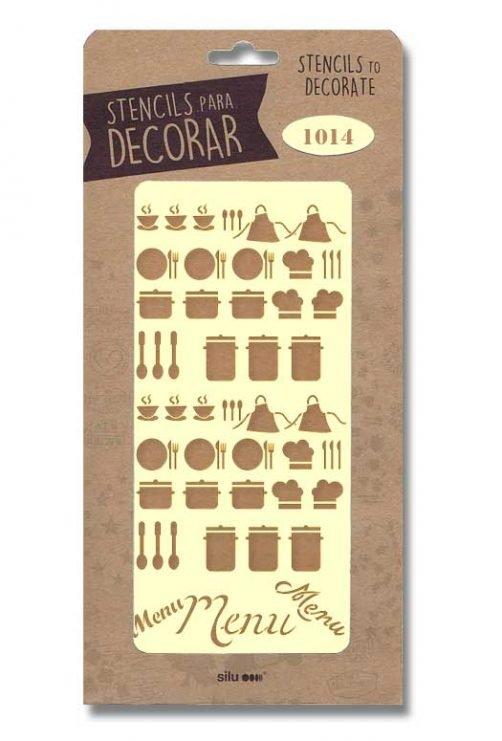 stencil utiles cocina 1014