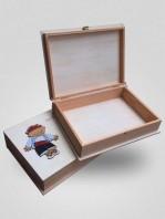 caja de recuerdos silu con silueta guillem coloreada a mano