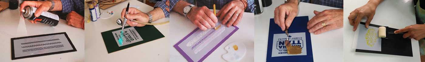 técnicas de stencil para estarcido decoración