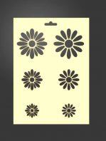 Plantilla stencil de flores 2038 para estarcido decoración