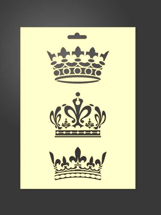 Plantilla stencil de coronas 2039 para estarcido decoración