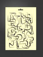 Plantilla stencil abstracto 2044 para estarcido decoración