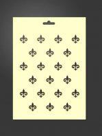 Plantilla stencil flor de lis 2045 para estarcido decoración