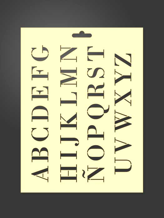 plantilla stencil letras 5001 abecedario mayusculas