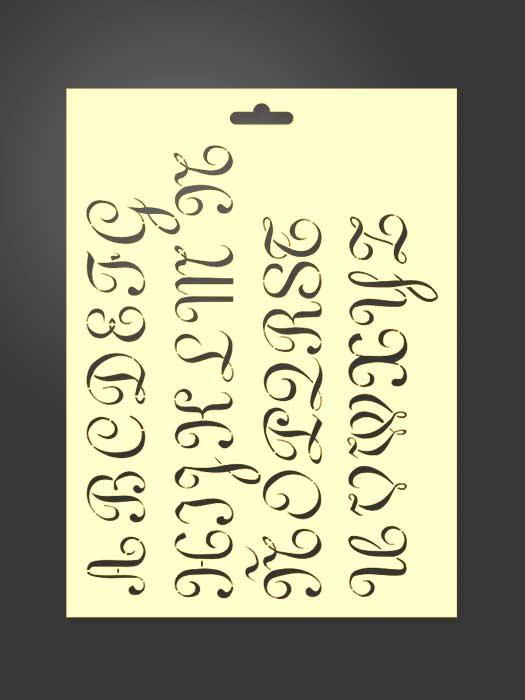 Plantilla stencil letras 5003 mayúsculas