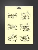 Plantilla stencil letras 5006 decorativas G, H, I, J, K y L