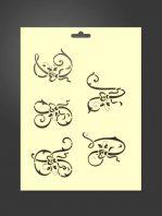 Plantilla stencil letras 5008 decorativas R, S, T, U y V