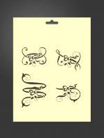 Plantilla stencil letras 5009 decorativas W, X, Y y Z
