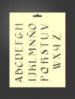 Plantilla stencil letras 5010 abecedario mayúsculas