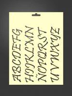 Plantilla stencil letras 5012 abecedario mayúsculas
