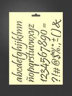 Plantilla stencil letras 5013 abecedario minúsculas, números y signos