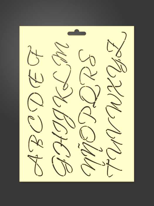 Plantilla stencil letras 5014 abecedario mayúsculas