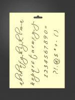 Plantilla stencil letras 5015 abecedario minúsculas, números y signos