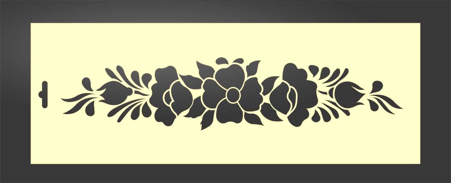 Plantilla stencil flores 9002 para estarcido decoración