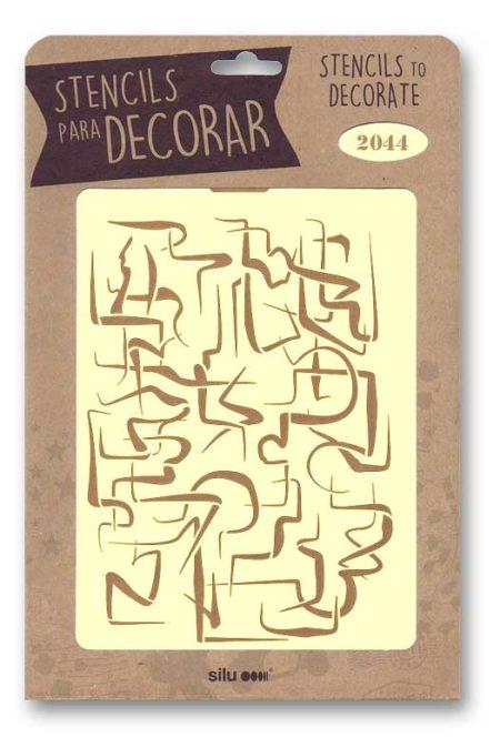 Stencil abstracto 2044