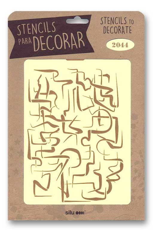 stencil abstracto silu 2044