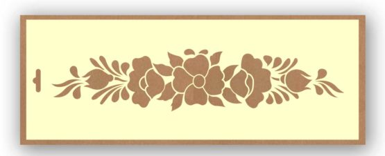 stencil conjunto flores silu 9002