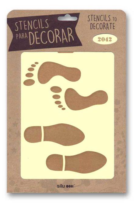 Stencil huellas humanas 2042