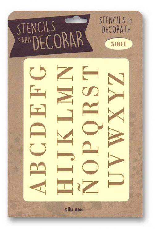stencil letras silu 5001
