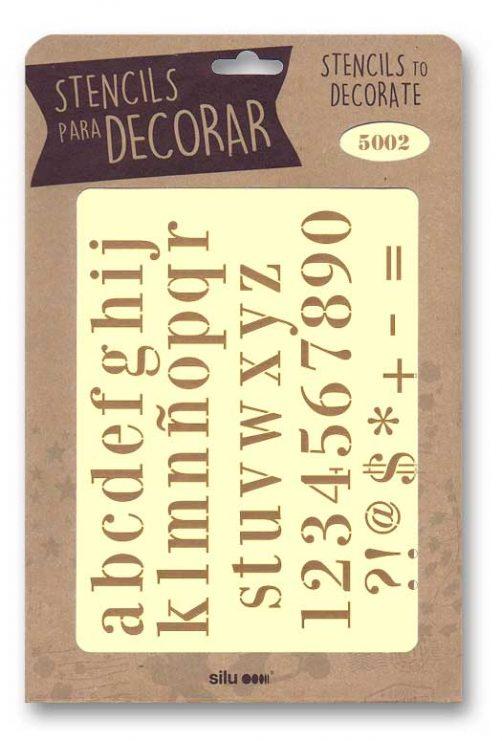 stencil letras silu 5002