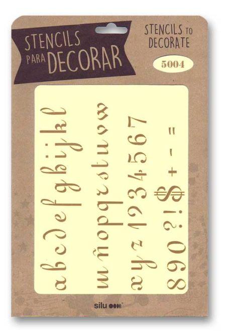 Stencil letras 5004