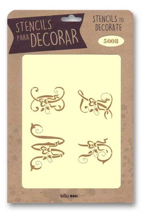 stencil letras silu 5009
