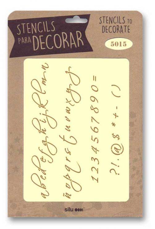 stencil letras silu 5015