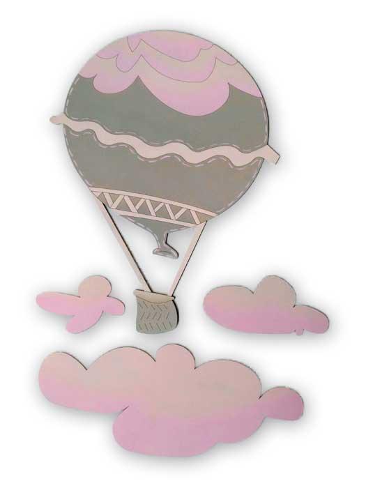 globo y nubes decorados
