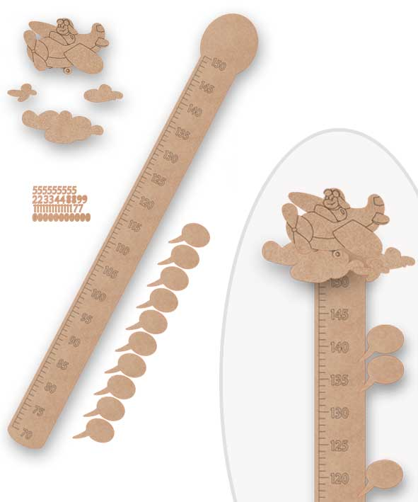 Medidor infantil para decorar silu - Medidor infantil madera ...