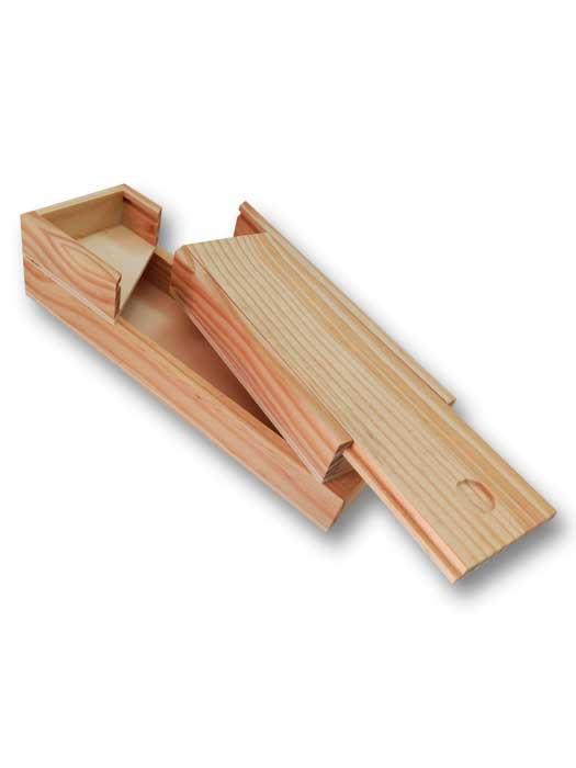 plumier de 2 pisos clasico madera de silu