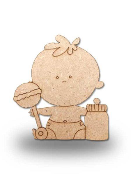 Silueta de madera bebe 2