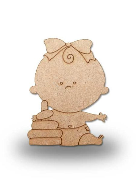 Silueta de madera bebe 3
