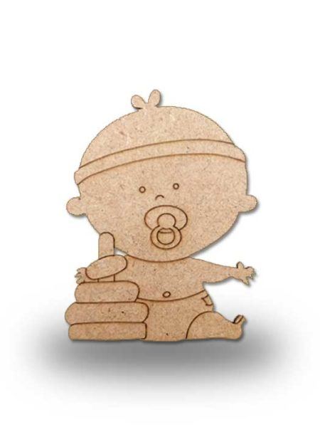 Silueta de madera bebe 4