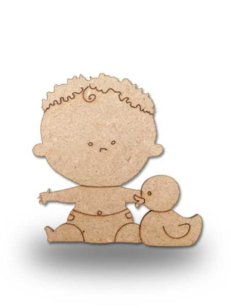 Silueta de madera bebe 6
