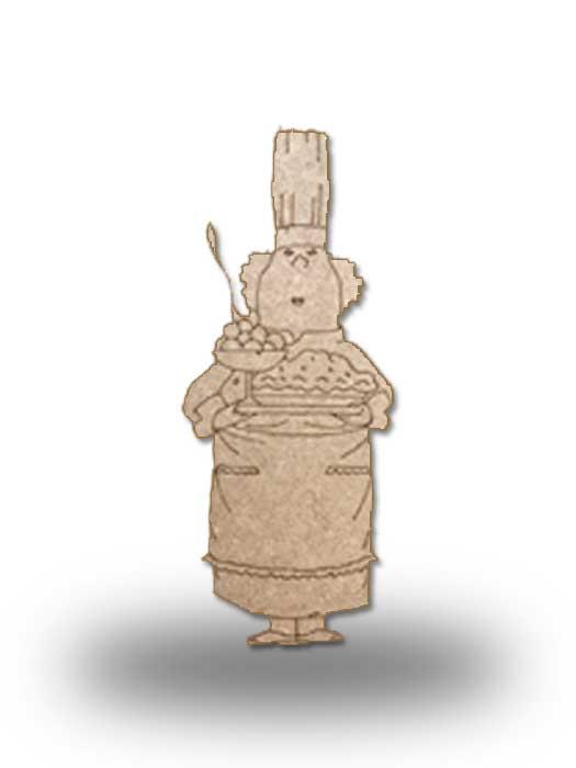 silueta de madera camarera 7 SILU