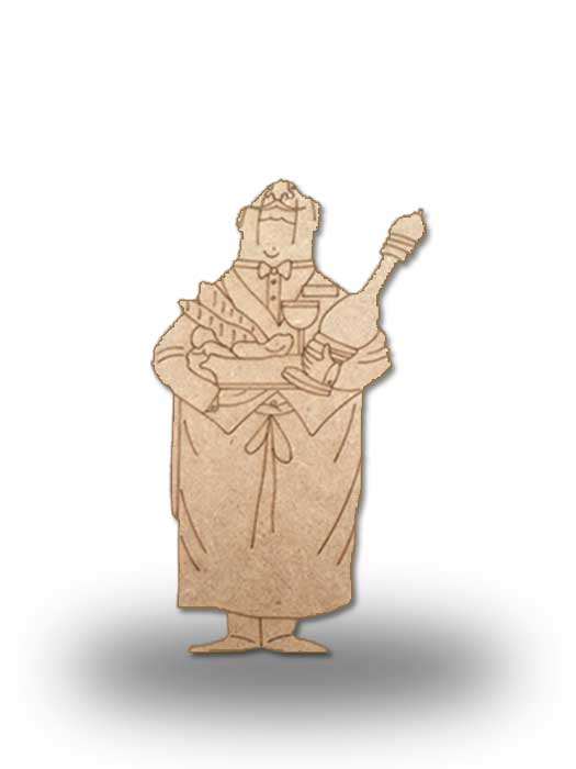 silueta de madera camarero 11 SILU