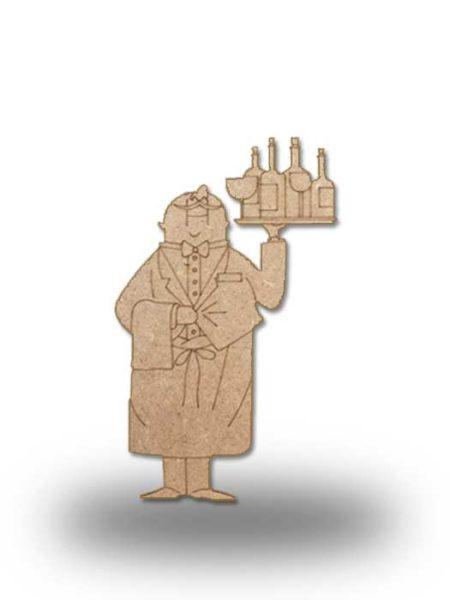 Silueta de madera camarero 5