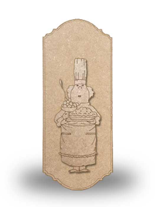 silueta de madera camarera 7 con base SILU